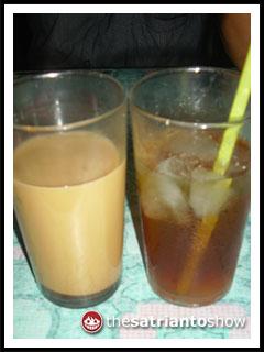 kopi susu dan es teh