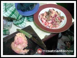 daging kambing mentah