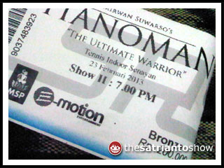 hanoman the musical: tiketnya